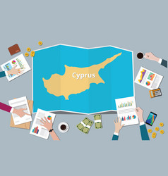 cyprus country growth nation team discuss with vector image