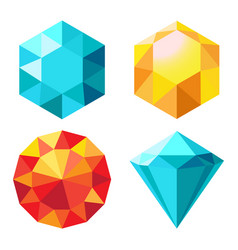 Diamond orange and blue color vector