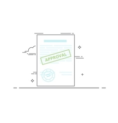Document approved Blank with text information vector image