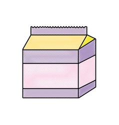 doodle fresh milk box healthy product vector image
