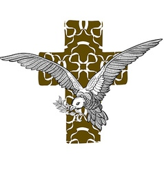 Dove cross vector