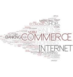 e-business word cloud concept vector image