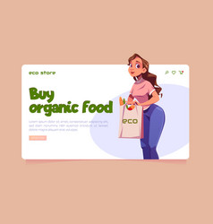 eco store website with local organic food vector image