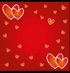 empty valentine day card for sign and greeting vector image
