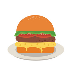 Fast food icon image vector