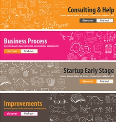 Flat design concepts for startups consulting vector