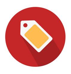 flat icon design label tag symbol vector image