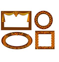 Four wooden frames vector