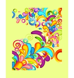 Funky background with rainbow splashes vector image