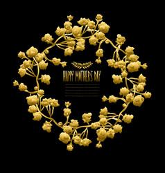 Golden floral wreath vector