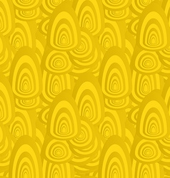 Golden seamless oval shape pattern background vector
