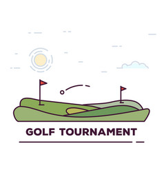 golf tournament line banner vector image