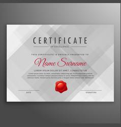 Gray certificate design template background vector