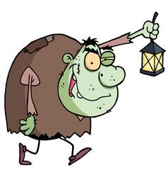 Green Igor Carrying A Lantern vector image vector image