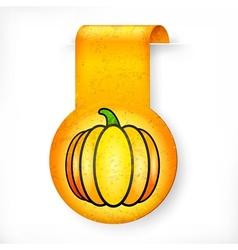Halloween sticker on white vector image