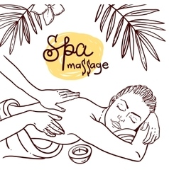 Hand drawn massage vector