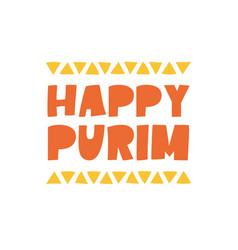happy purim - lettering vector image