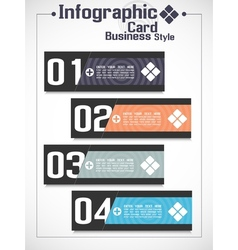 INFOGRAPHIC BUSINNES CARD STYLE 2 vector image