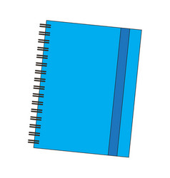 isolated school notebook vector image
