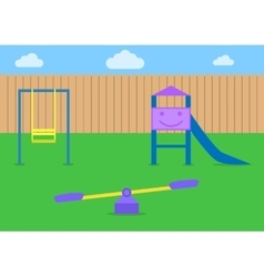 Kids playground vector
