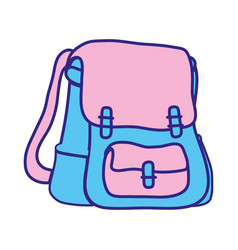 line color school backpack education object design vector image