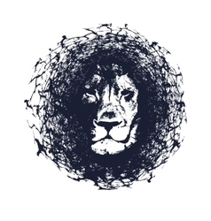 Lion in grunge style vector