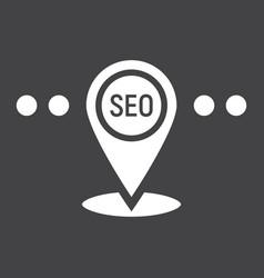 local seo glyph icon seo and development vector image