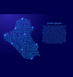 Map iraq from printed board chip and radio vector