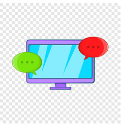 messages on computer icon cartoon style vector image