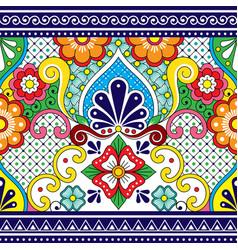 Mexican talavera seamless pattern vector