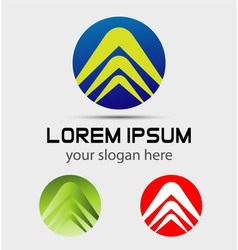 Modern social community logo icon template vector image