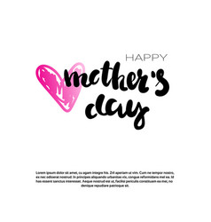 mothers day holiday background with copy space vector image