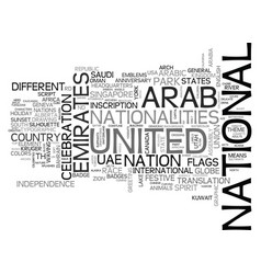 Nation word cloud concept vector