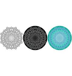 natural mandala of circles for coloring book vector image