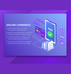 online commerce technology vector image