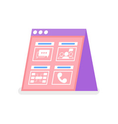 online communication message and cell icon vector image