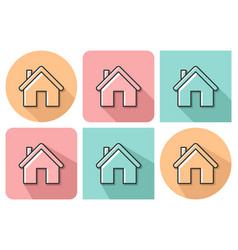 outlined icon of home with parallel and not vector image
