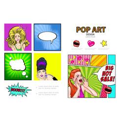 pop art sale infographic concept vector image