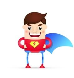 power superhero cartoon vector image