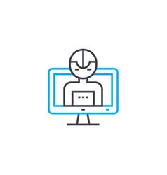 program control linear icon concept program vector image