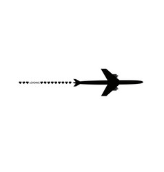 progress loading bar with airplane and hearts the vector image