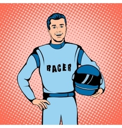 Racer concept comics style vector