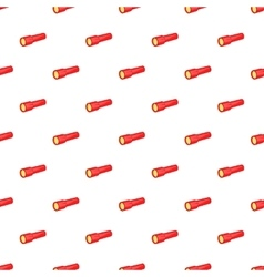 Red flashlight pattern cartoon style vector