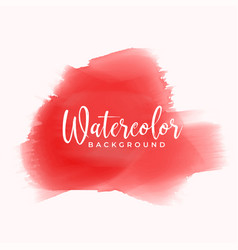 red hand painted watercolor texture background vector image