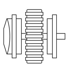 Repair thing icon outline style vector
