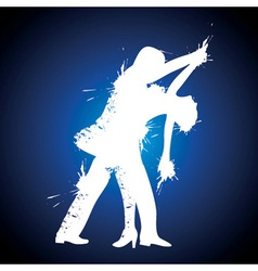 Salsa couple dancer vector