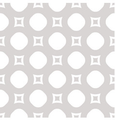 seamless pattern with circles and squares light vector image