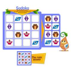 shapes sudoku kids owls game vector image
