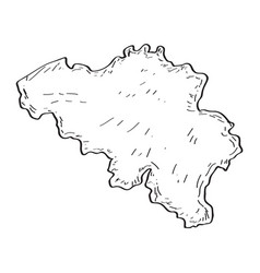 sketch of a map of belgium vector image