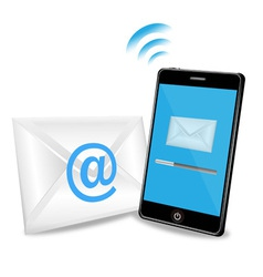 smart phone sending email vector image